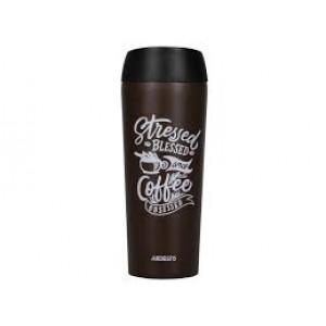Термокружка Ardesto Coffee time Cup 450мл, коричневая, нержавеющая сталь