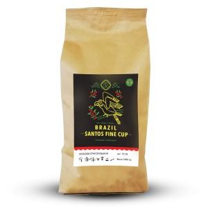 Молотый кофе Арабика Бразилия Сантос, 0.25 кг.