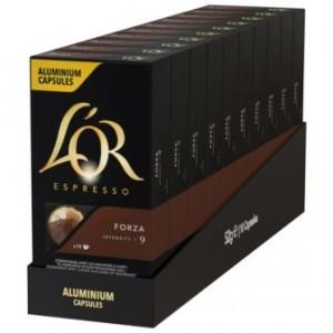Кофе L'OR Espresso Forza, 100 капсул Nespresso