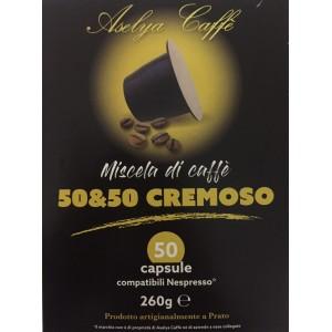 Кофе в капсулах Aselya Caffe 50/50 Cremoso, 50 капсул Nespresso