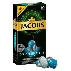 Кофе в капсулах Jacobs Decaffeinato Lungo, 10 капсул Nespresso