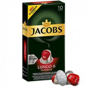 Кофе в капсулах Jacobs Lungo 6 Classico, 10 капсул Nespresso