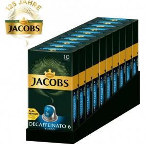 Кофе Jacobs Decaffeinato Lungo, 100 капсул Nespresso