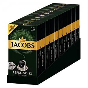 Кофе Jacobs Espresso 12 Ristretto, 100 капсул Nespresso