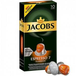 Кофе в капсулах Jacobs Espresso 7 Classico, 10 капсул Nespresso