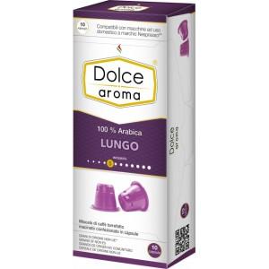 Кофе в капсулах Dolce Aroma Lungo, 10 капсул Nespresso