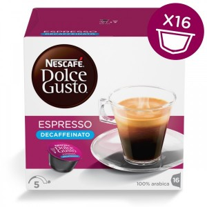 Капсулы Espresso Decaffeinato, 16 капсул Dolce Gusto