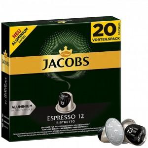 Кофе в капсулах Jacobs Espresso 12 Ristretto, 20 капсул Nespresso