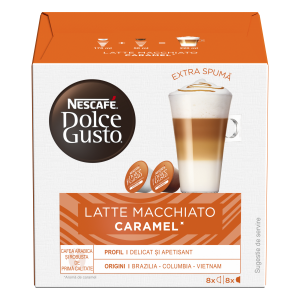 Капсулы Latte Macchiato Caramel, 8+8 капсул Dolce Gusto