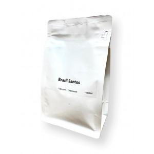 Кофе в зернах Арабика Бразилия Сантос, 0.25 кг.