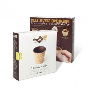 Стаканчики вафельные с шоколадом 30 мл. 20 шт.