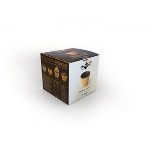 Стаканчики вафельные с шоколадом 60 мл. 12 шт.