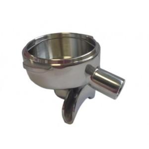 Чаша холдера M12 3/8 15° нержавеющая сталь, двойной носик
