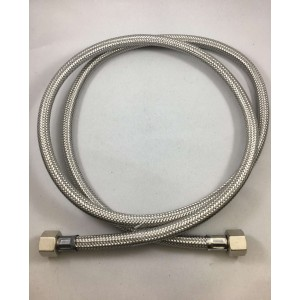 Шланг прямой металлический 3/8F-3/8F 150см